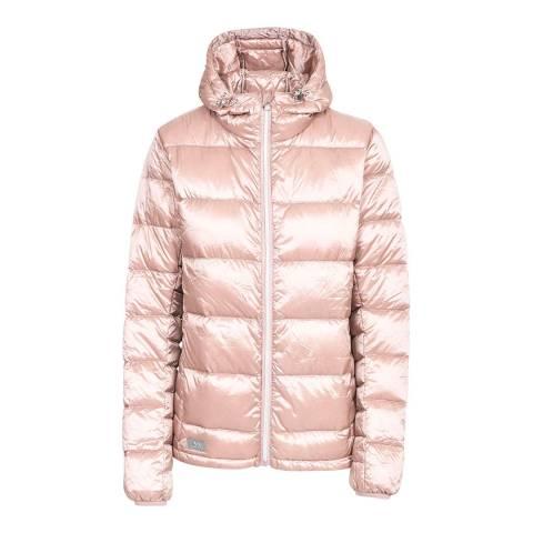 Trespass Light Pink Bernadette Pearlescent Down Jacket