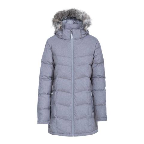 Trespass Grey Marl Reeva Down Parka Jacket