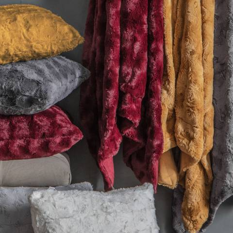 Gallery Ochre Stellan Fur Throw 40x180cm