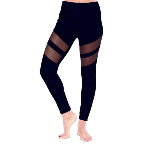 Electric Yoga Black Tummy Tuck Mesh Racer Legging