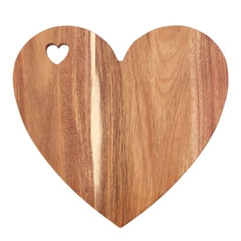 Premier Housewares Pink Edge Heart Socorro Heart Chopping Board