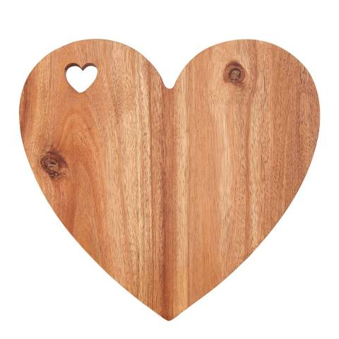 Premier Housewares White Edge Heart Socorro Chopping Board