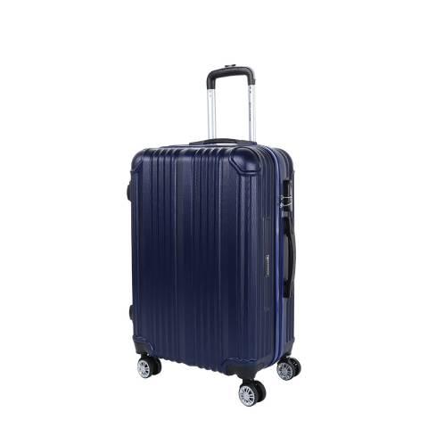 Platinium Blue Athenes 8 Wheel Suitcase 50cm