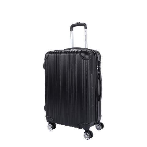 Platinium Black Rockland 8 Wheel Suitcase 56cm
