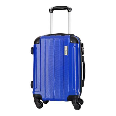 Platinium Blue Delos 4 Wheel Suitcase 66cm
