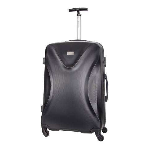 Platinium Black 4 Wheels Athenes Suitcase 70cm