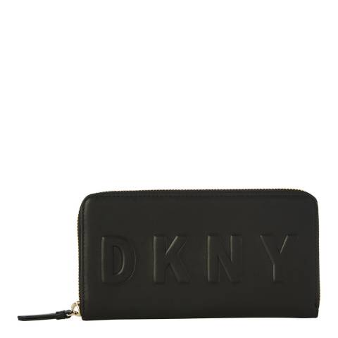 DKNY Black Tilly Large Zip Around
