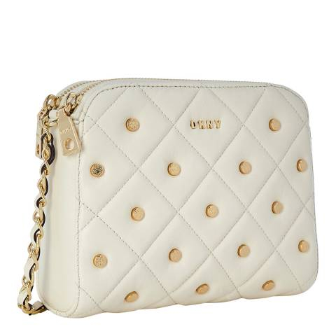 DKNY Ivory Barbara Zip Crossbody