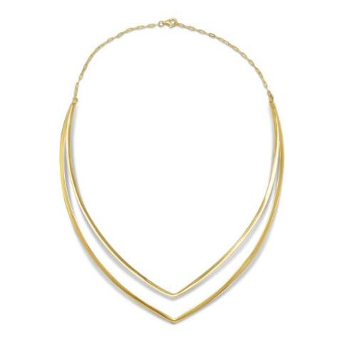 Chloe Collection by Liv Oliver Gold Graduated Double Strand Necklace
