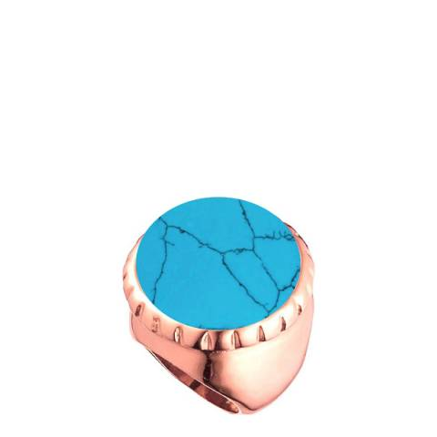 Chloe Collection by Liv Oliver 18k rose gold Turquoise Statement Ring
