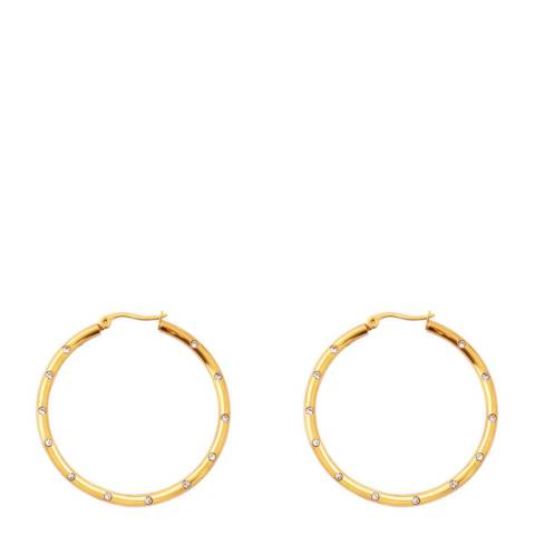 Chloe Collection by Liv Oliver 18k Gold Crystal Hoop Earrings