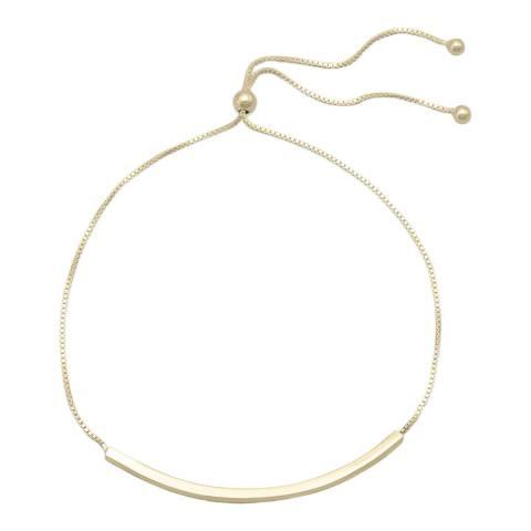 Chloe Collection by Liv Oliver 18k Gold Adjustable Bar Bracelet