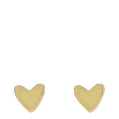 Chloe Collection by Liv Oliver 18k Gold plated sterling silver heart stud earrings