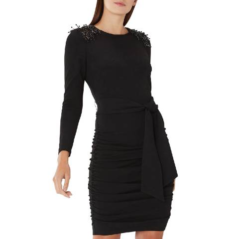 Coast Black Shea Embellished Dress