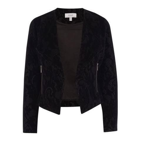 Coast Black Connie Velvet Lace Jacket