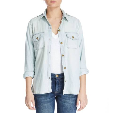 Current Elliott Light Blue Pier Perfect Cotton Shirt