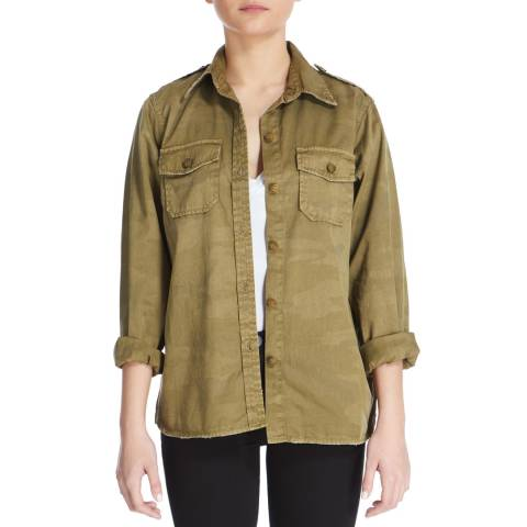 Current Elliott Army Green Camo Perfect Cotton Shirt