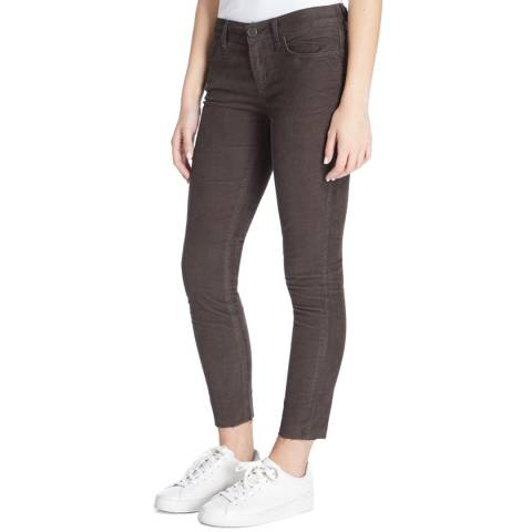 Current Elliott Black Wash Stiletto Cut Hem Corduroy Stretch Jeans