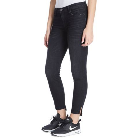 Current Elliott Midnight Yuma Slit Hem Skinny Jeans