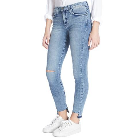 Current Elliott Light Blue Balsa High Waist Stiletto Stretch Jeans