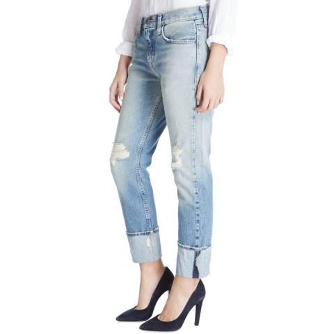 Current Elliott Light Blue Pinyon Destroy Boyfriend Stretch Jeans