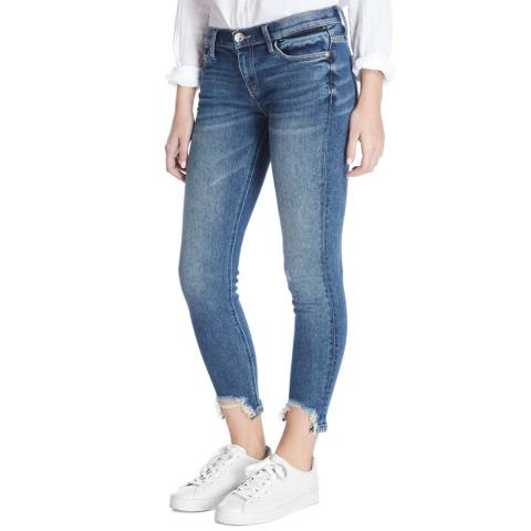 Current Elliott Blue Zayden Stiletto Cropped Skinny Stretch Jeans