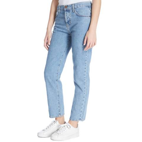 Current Elliott Light Blue Prep Original Straight Jeans