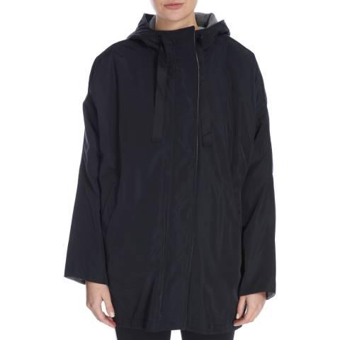 DKNY Black/Grey Reversible Hood Swing Jacket