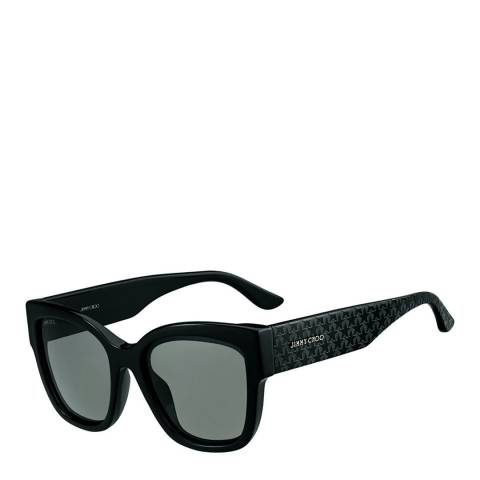 Jimmy Choo Women's Black/Dark Grey Shaded Roxie Sunglasses 55mm