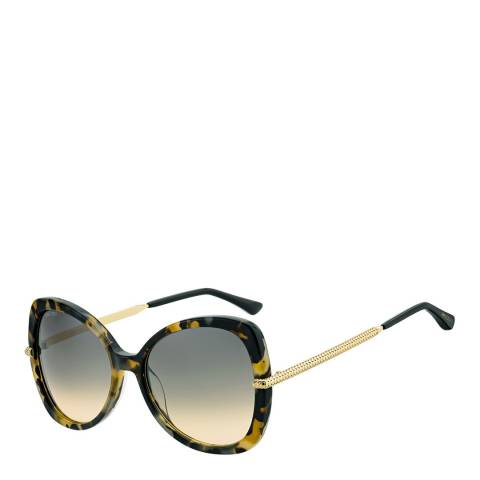 Jimmy Choo Women's Dark Havana/Brown Gradient Cruz Sunglasses 58mm
