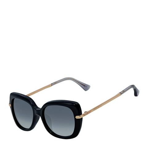 Jimmy Choo Women's Black Gold Copper/Dark Grey Gradient Ludi Sunglasses 53mm