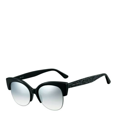 Jimmy Choo Women's Black Glitter/Grey Silver Gradient Priya Sunglasses 56mm