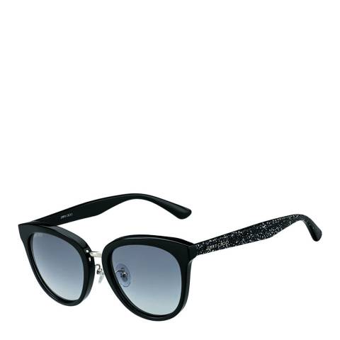 Jimmy Choo Women's Black Glitter/Dark Grey Gradient Cade Sunglasses 55mm