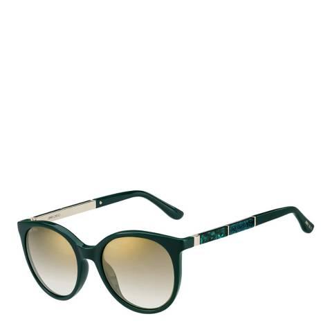 Jimmy Choo Women's Green Gold/Brown Gold Shaded Sunglasses 51mm