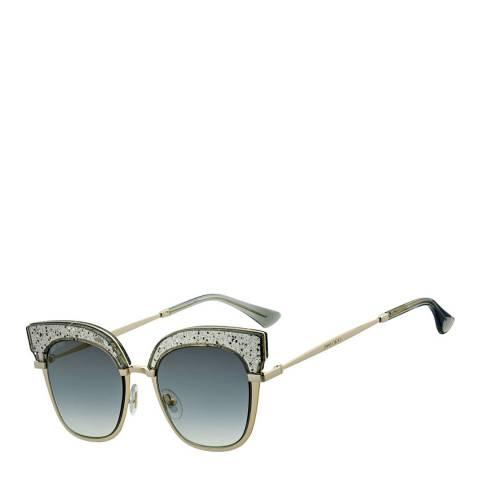 Jimmy Choo Women's Silver Nude Pink Glitter/Brown Gradient Rosy Sunglasses 51mm