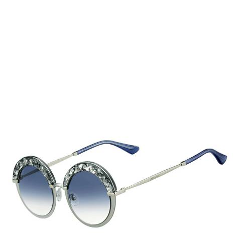 Jimmy Choo Women's Matte Pale Gold Silver/Blue Shaded Gotha Sunglasses 50mm