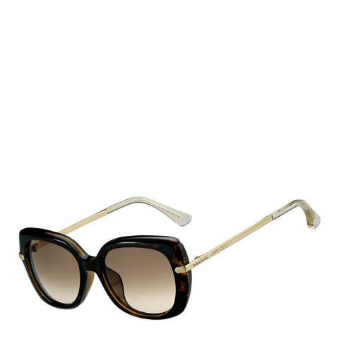 Jimmy Choo Women's Havana Rose Gold/Brown Gradient Ludi Sunglasses 53mm