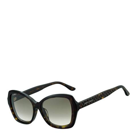 Jimmy Choo Women's Dark Havana/Brown Gradient Jody Sunglasses 57mm