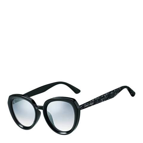 Jimmy Choo Women's Black Glitter/Grey Silver Shaded Mace Sunglasses 53mm