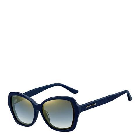 Jimmy Choo Women's Blue/Grey Mirror Gradient Jody Sunglasses 57mm