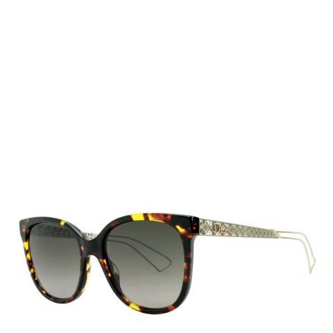 Christian Dior Women's Black Blue Red/Grey Alex Sunglasses 55mm