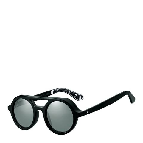 Jimmy Choo Women's Black/Grey with Silver Mirror Bob Sunglasses 51mm