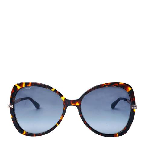 Jimmy Choo Women's Dark Havana/Grey Azure Cruz Sunglasses 58mm