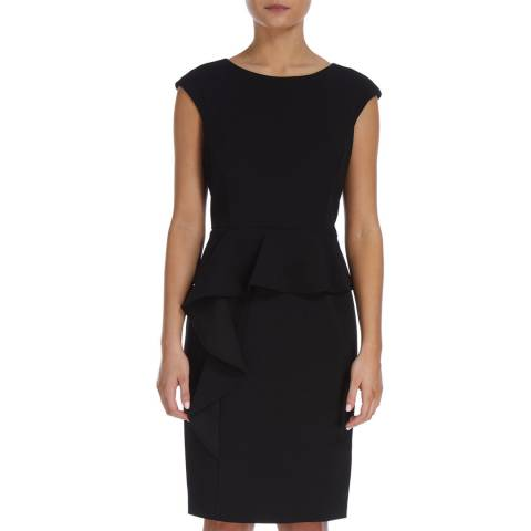 DKNY Black Ruffle Peplum Dress