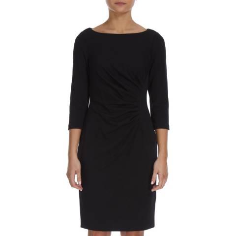 DKNY Black Sheath Ruche Dress
