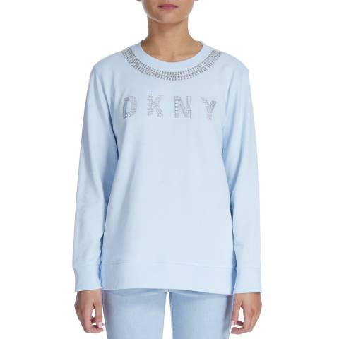 DKNY Frost Embellished Logo And Neck Sweatshirt