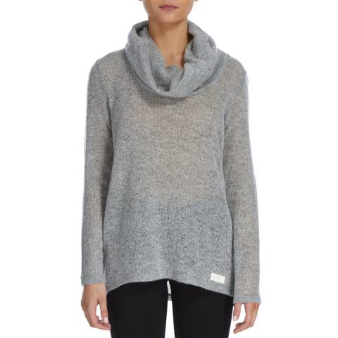 DKNY Grey Cowl Neck Knitted Jumper