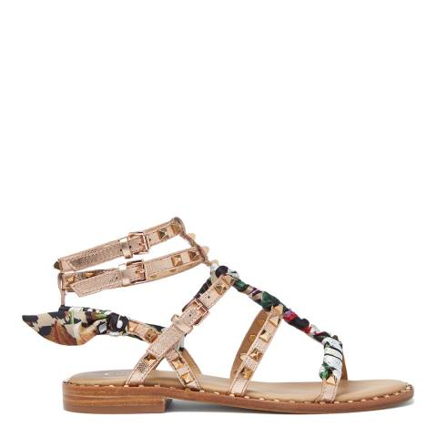 ASH Floral Cheetah Pax Flat Sandal