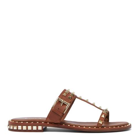 ASH Tan Brasil Prince Flat Sandal