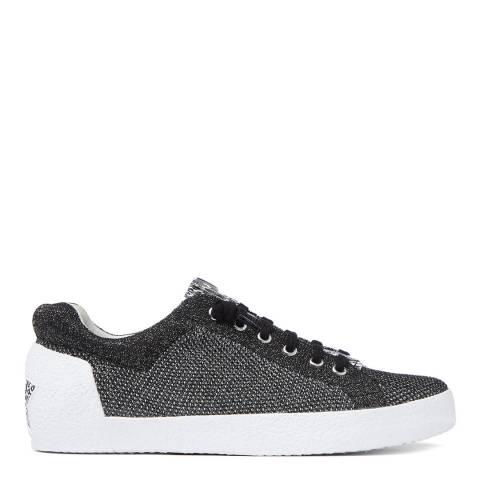 ASH Black Silver Knit Nirvana Sneaker